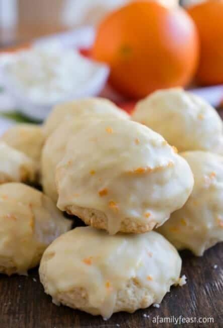 close up of Orange Ricotta Cookies