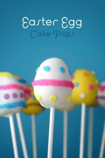 close up of Easter Egg Cake Pops