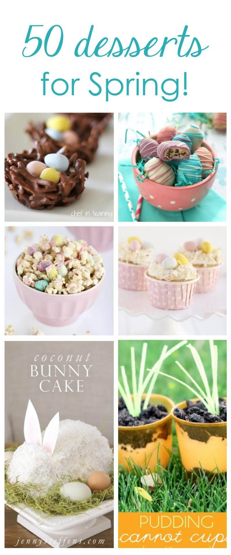 50 easter desserts collage
