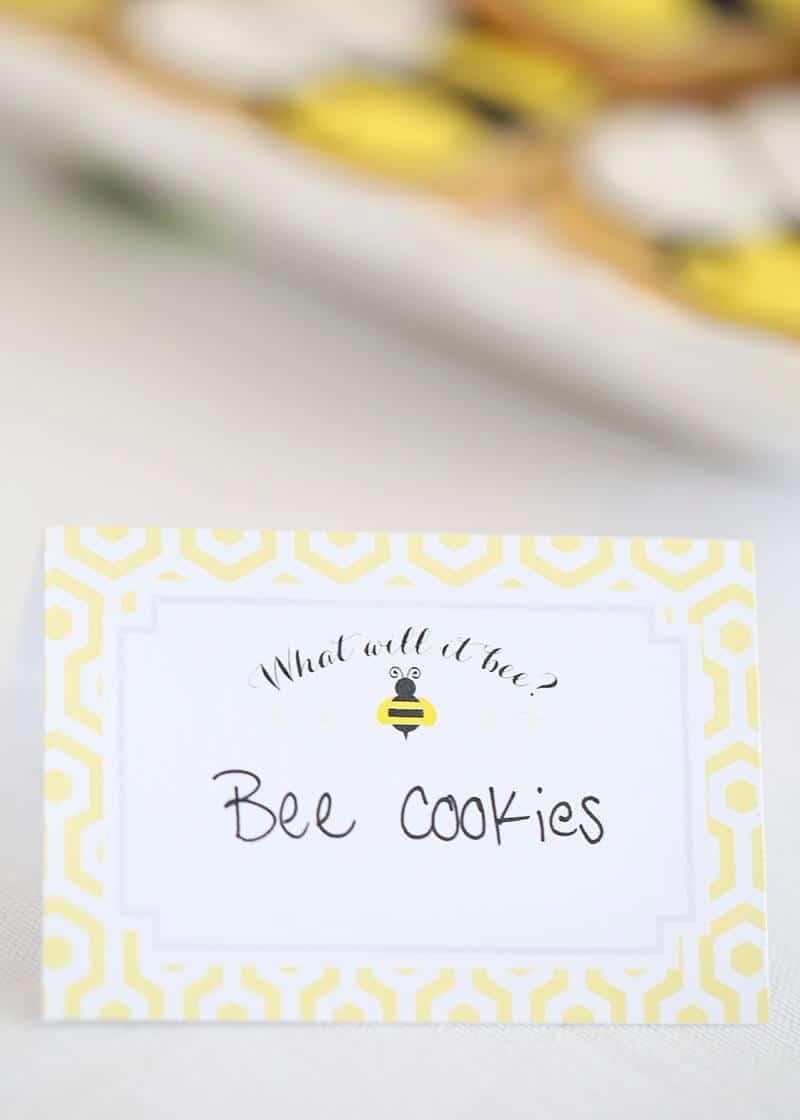 Bee cookies sign