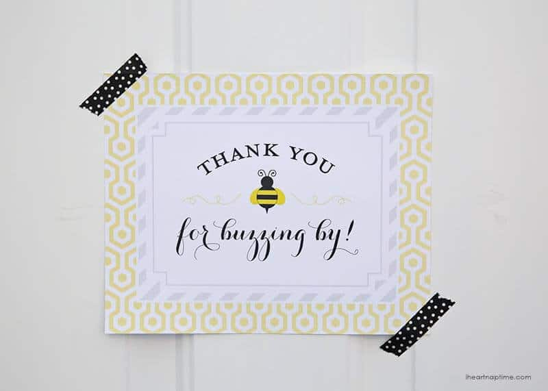 Bumble bee baby shower sign