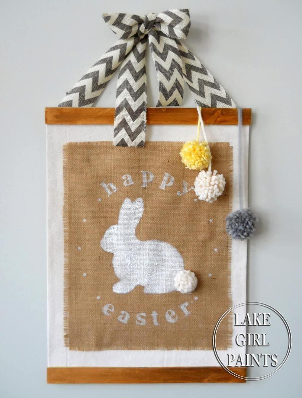 Burlap Bunny Banner