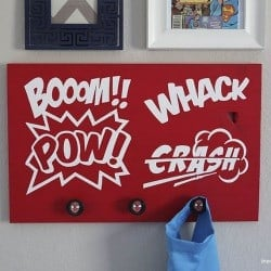 DIY super hero sign