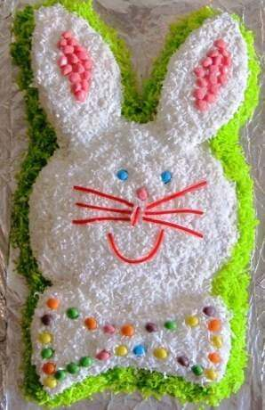 close up of Easter Bunny Cake