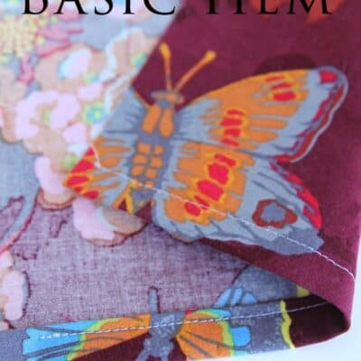 How to Sew a Basic Hem