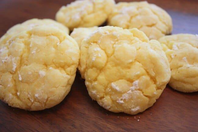 Gooey Lemon Butter Cookies on table