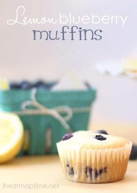 Lemon Blueberry Muffins close up