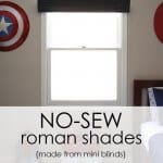 No-sew roman shades made from mini blinds