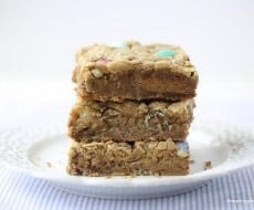 Peanut butter chip blondies