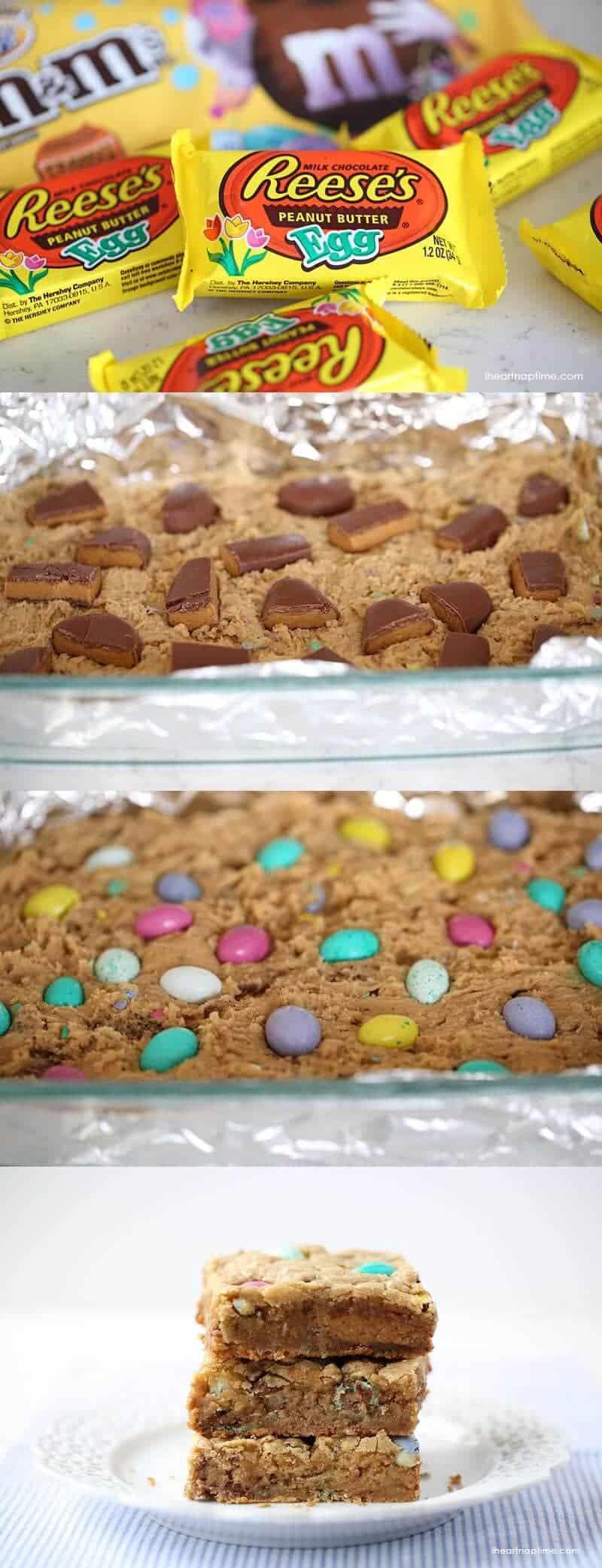 Reeses peanut butter blondies Easter dessert