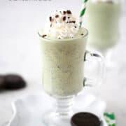 thin mint shamrock milkshake in cup