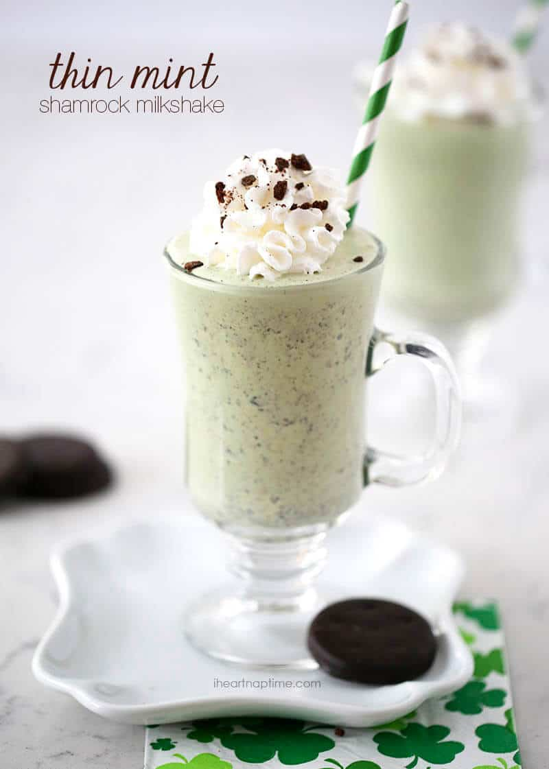 Thin mint milkshake on iheartnaptime.com ...so good!