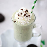 thin mint milkshake in glass