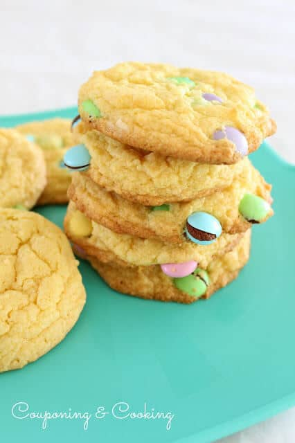 Cake Mix Cookies with Cheesecake Filling on plate