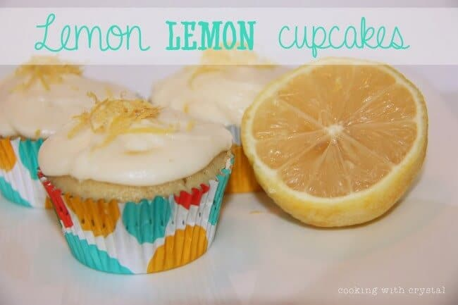 lemon cupcakes on table