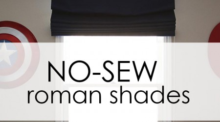 How to make inexpensive NO SEW roman shades