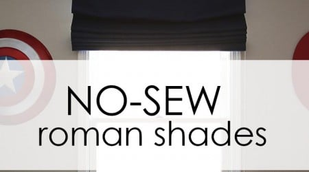 EASY no-sew roman shades
