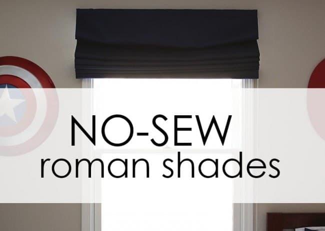 EASY no-sew roman shades