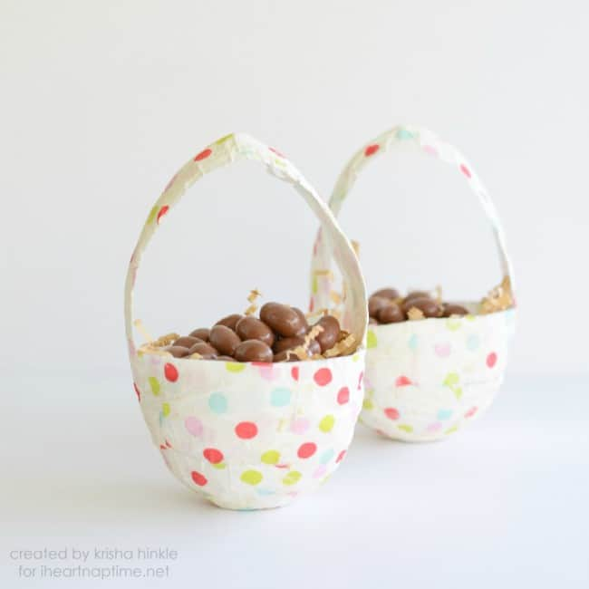 Paper Mache Easter Baskets