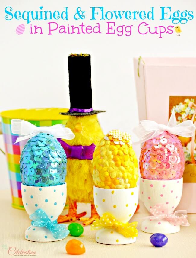 sequined eggs