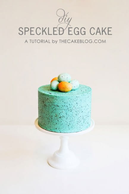 Speckled Egg Cake on platter