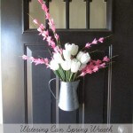watering can spring wreath