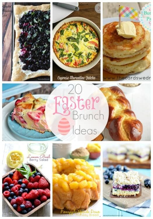 20 easter brunch ideas link party features i heart nap Fun easter brunch ideas