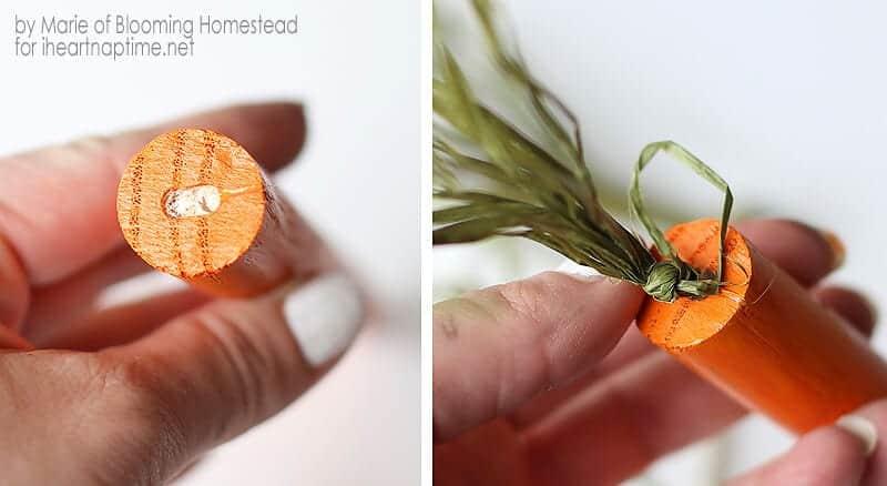 DIY Wood Carrots on iheartnaptime.com