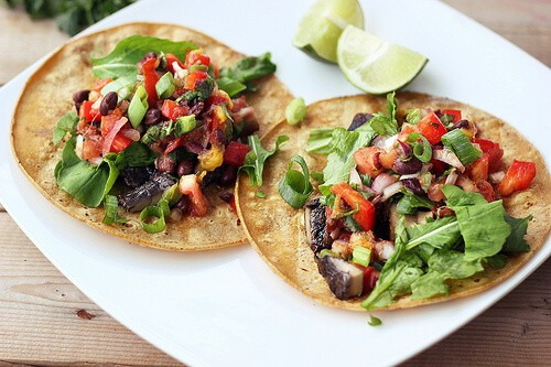 grilled meat tacos on plate
