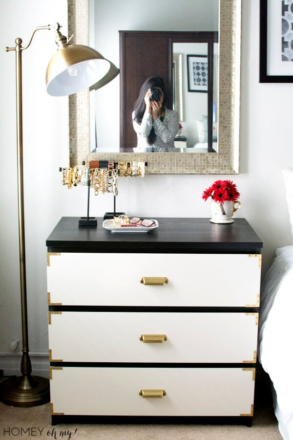 Campaign-Style-Dresser-IKEA-Malm-Makeover