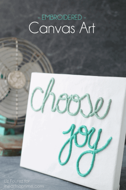 Learn how to create this 3-dimensional Embroidered Canvas Art from Love Grows Wild at iheartnaptime.com