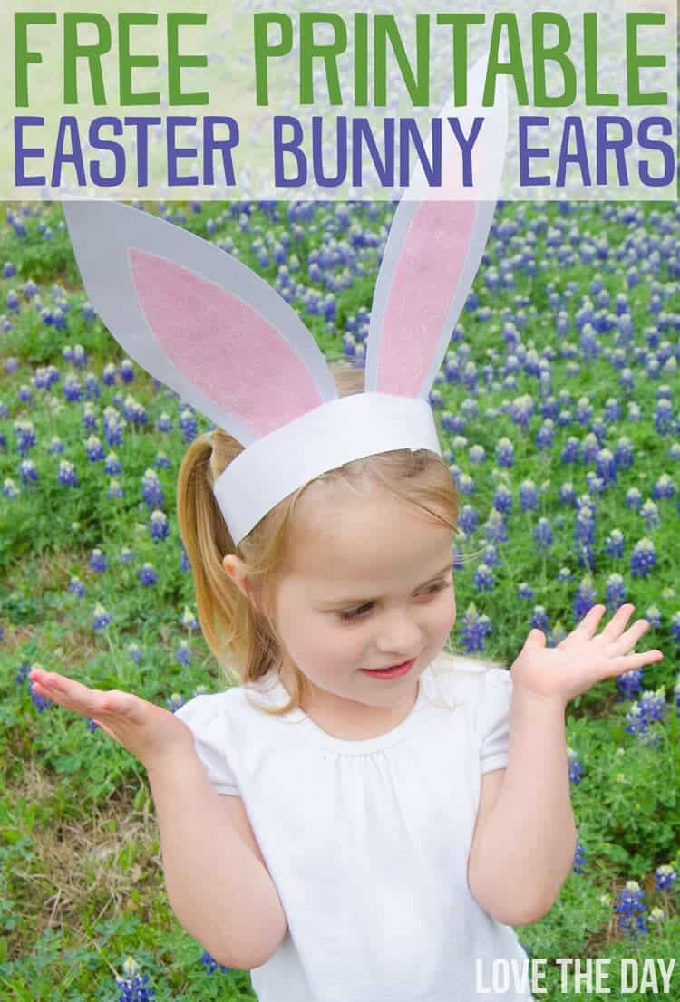 Free Printable Bunny Ears I Heart Nap Time