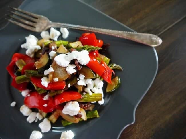 grilled veggies on plate