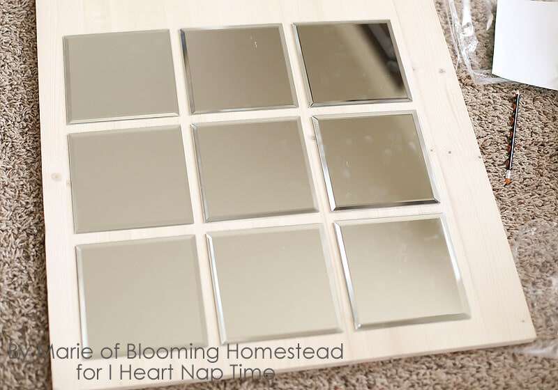 Pottery Barn Knock Off Mirror on iheartnaptime.com