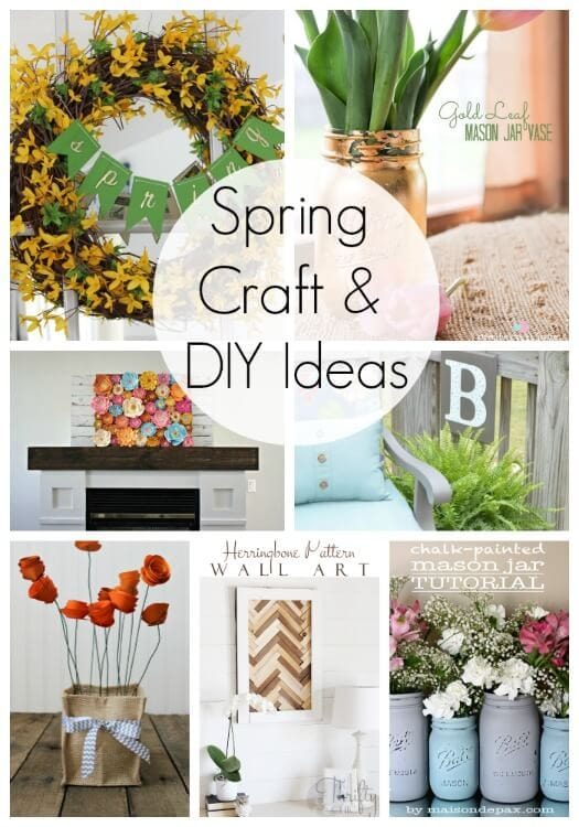 20 Spring Craft And DIY Ideas Link Party Features I