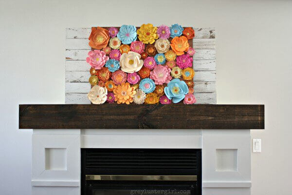 Spring-Mantel_paper-flowers