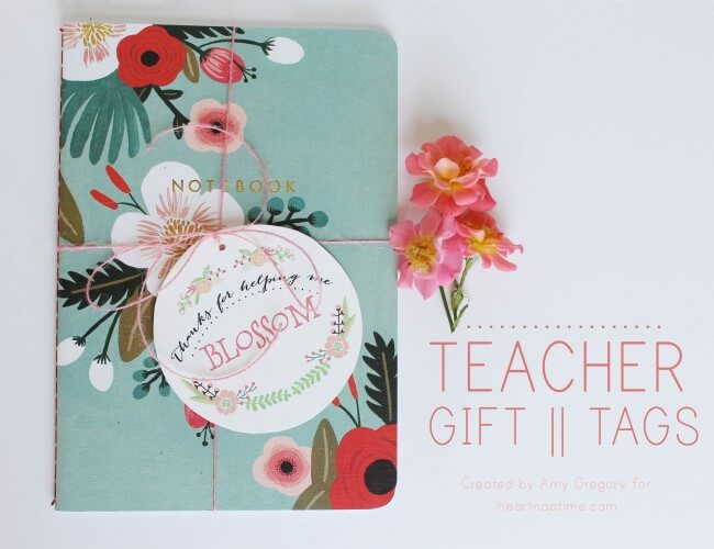 Teacher Gift Tag free printable on iheartnaptime.com