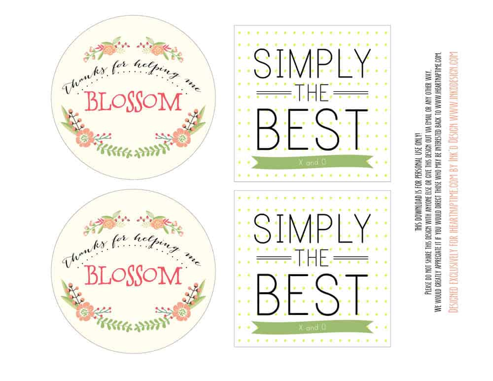 Agile image regarding printable teacher gift tags