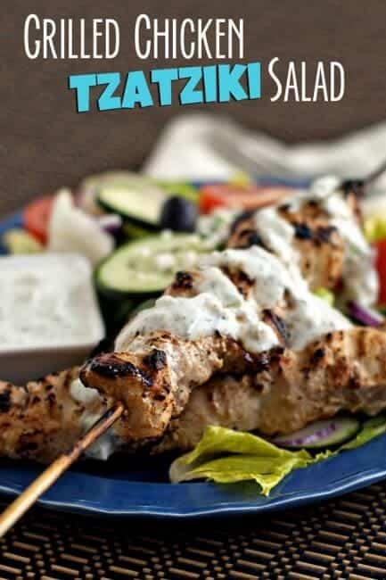 Grilled Chicken Tzayziki Salad