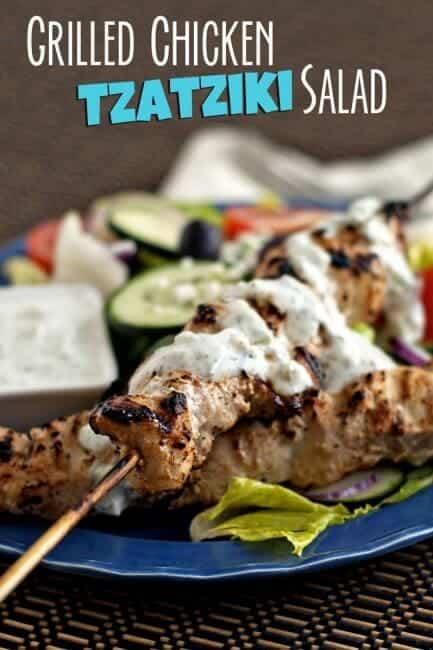 Grilled Chicken Tzayziki Salad