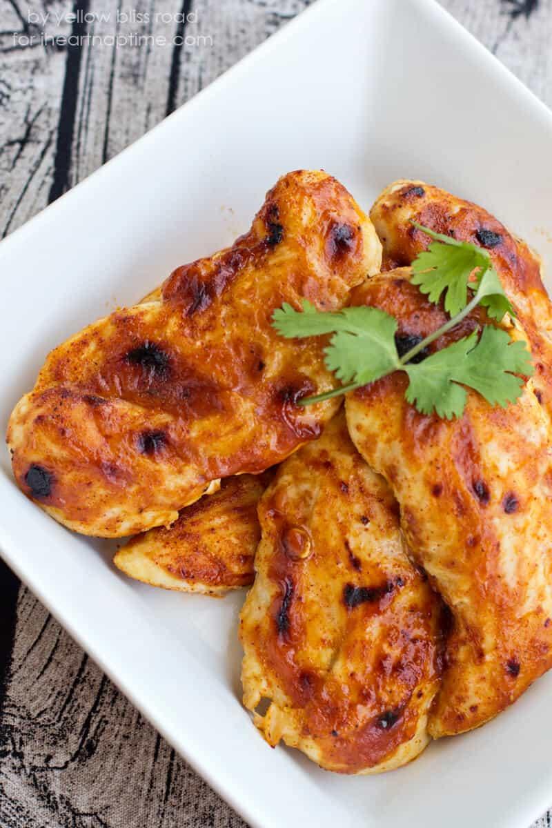 BBQ Chicken Tacos on iheartnaptime.com