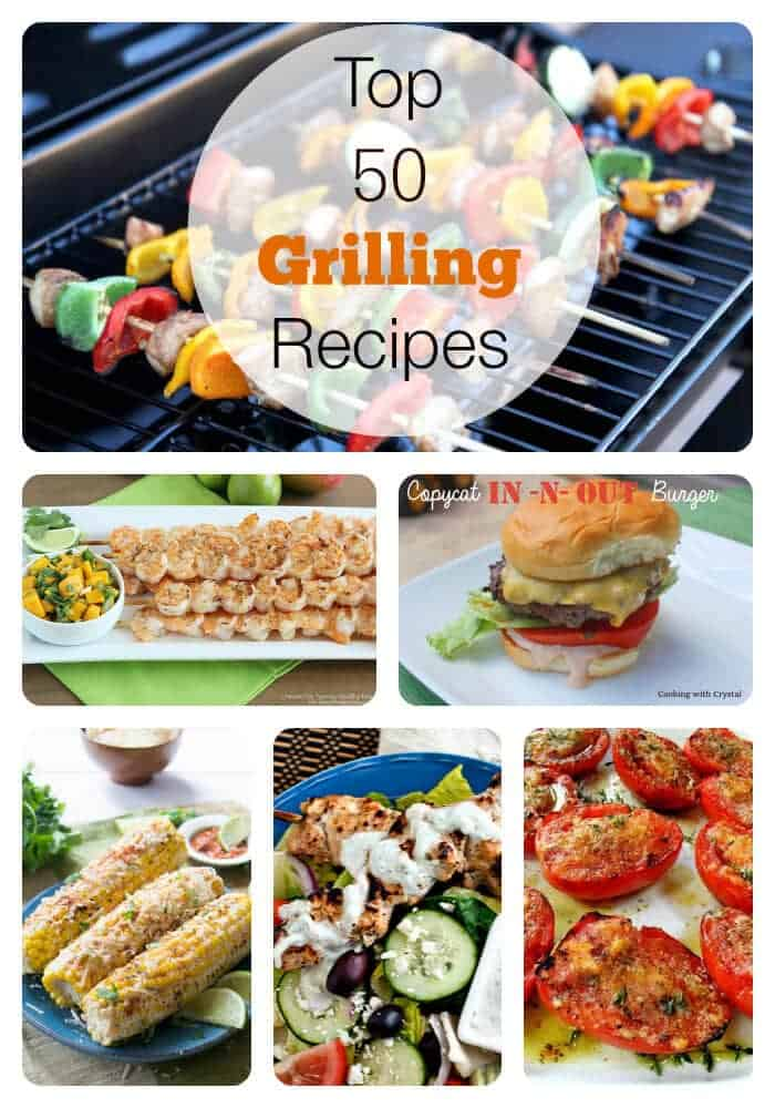 50 grilling recipes collage