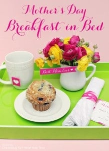 Mother's Day breakfast in bed printables - create a sweet and easy breakfast in bed for a special mom!