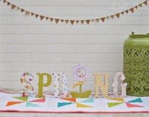 spring letter set