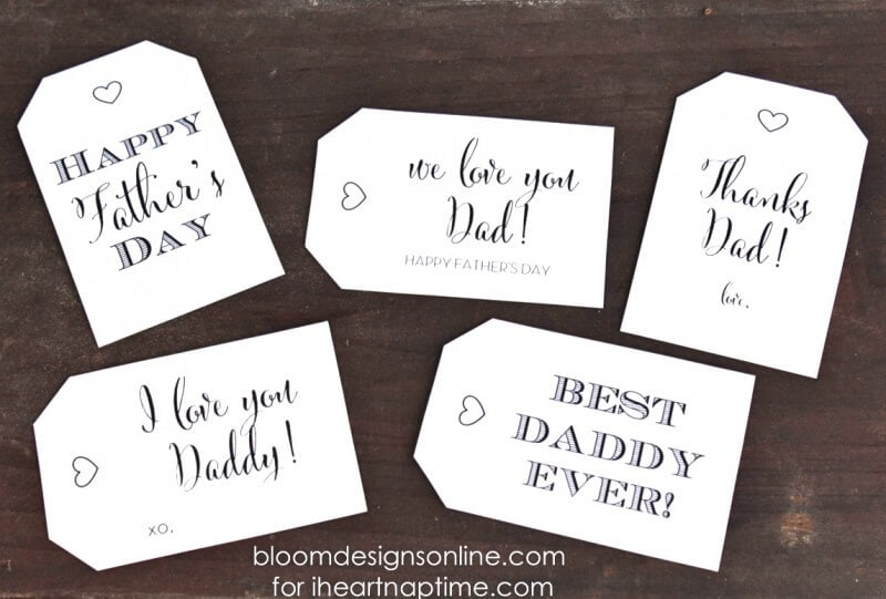 fathers day gift tags on iheartnaptimecom