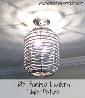 DIY Bamboo Lantern Light Fixture