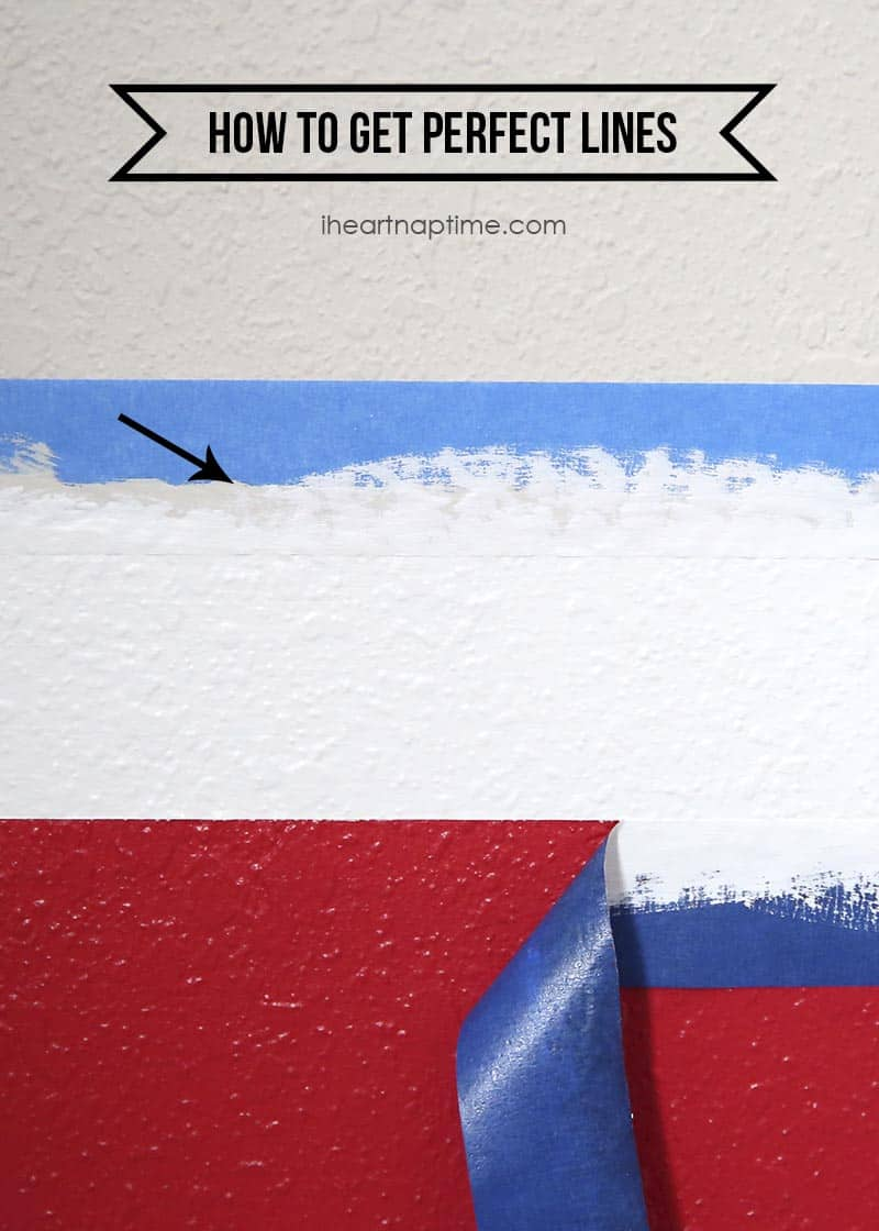 How to get perfect lines when painting stripes