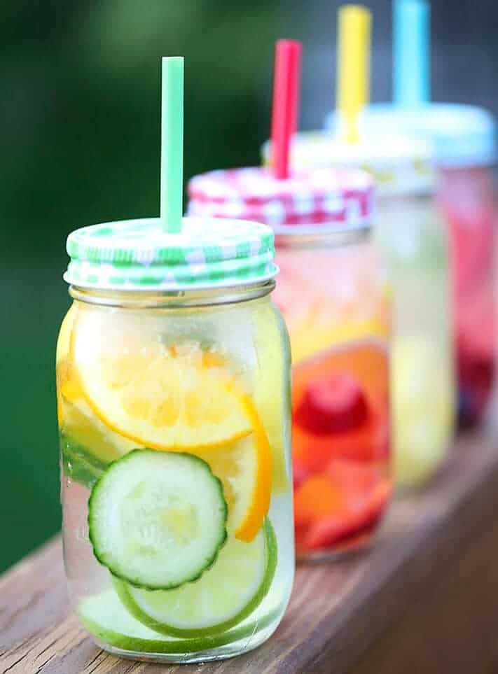 Fruit infused water... naturally flavored water that is not only easy to make, but healthy and delicious!