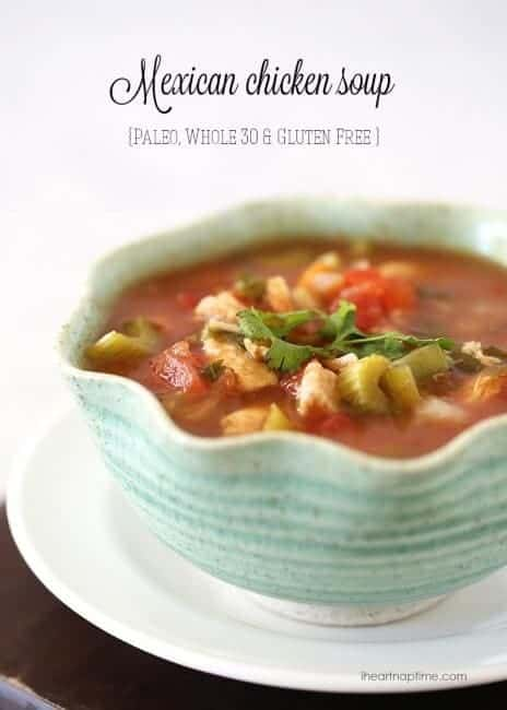 Mexican chicken soup -whole 30 recipe