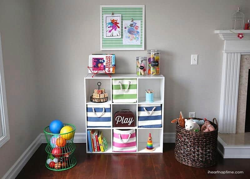 7 tips for organizing toys i heart nap time for Playroom living room combination